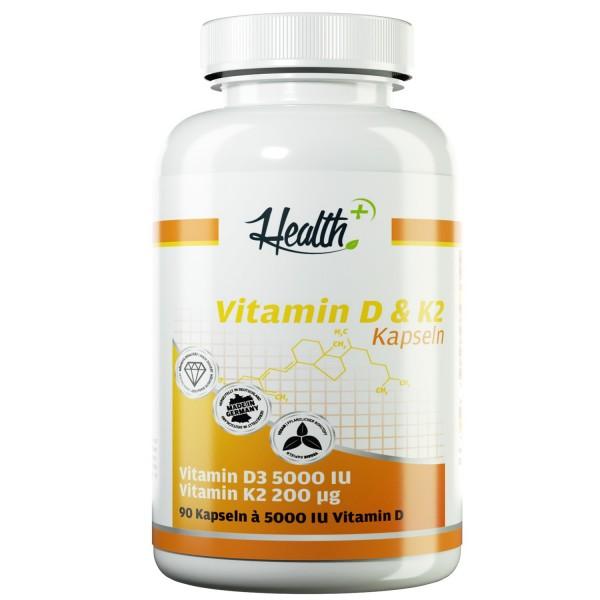 Vitamin D3 | 5000 IE + K2 200 μg | 90 Kapseln