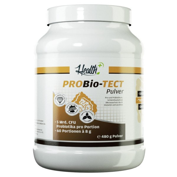 Probiotect 480 g Pulver - 5 Mrd. Probiotika + 1000 mg Glutamin + 1000 mg Lecithin pro Portion