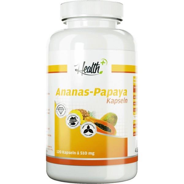 Ananas-Papaya-Enzyme 100 mg Bromelain + 100 mg Papain 120 Kapseln